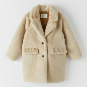 Double Faced Faux Fur Coat Size 10 Years NWT